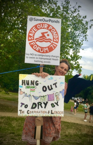 Save Our Ponds protest August 8th #hungouttodry